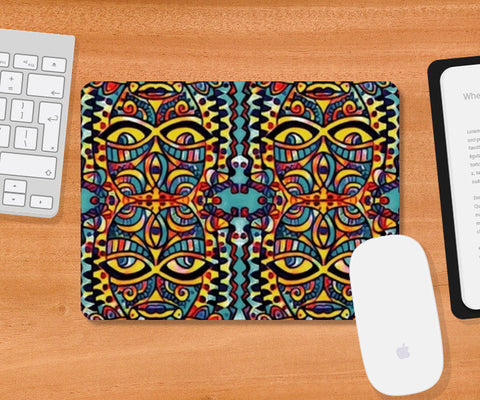 many faced Mousepad | Artist : Himani Chhabra