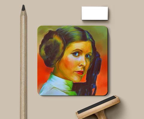 Carrie Fisher Coasters | Artist : Delusion