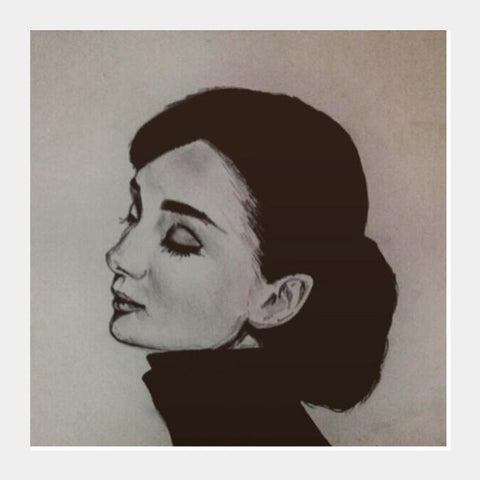 PosterGully Specials, Audrey Hepburn Square Art Prints | Artist : Sukanya Chakraborty, - PosterGully