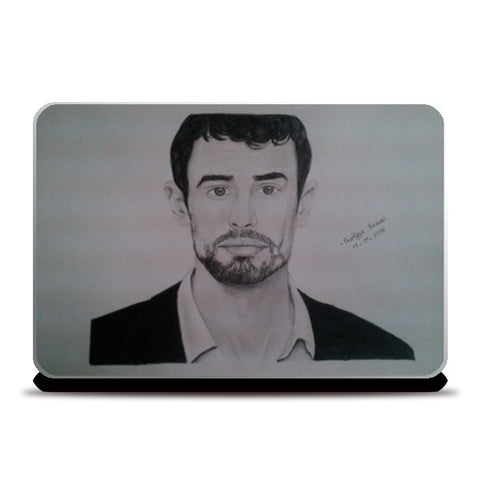 Laptop Skins, Theo James Laptop Skins | Artist : Pratigya Berwal, - PosterGully