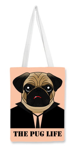 Tote Bags, The Pug life Tote Bags | Artist : Isha Rathee, - PosterGully