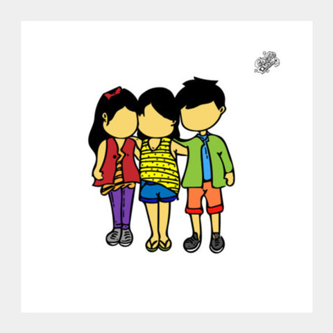 Square Art Prints, #GoggiGoggiEverywhere..!!! | Celebrating #TrueFriendship. Square Art Prints | Artist : Goggi's Doodles, - PosterGully