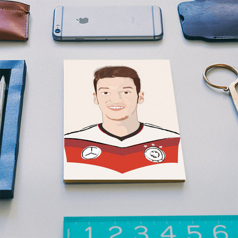 Mesut Ozil Germany's Best Midfielder, Nimo Notebook Notebook | Artist : Nihal Dad Khan