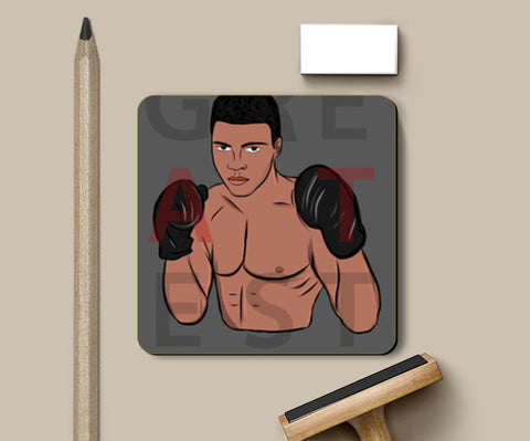 Greatest Ali Coasters | Artist : Ayush Yaduv
