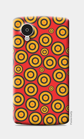 Retro Circle Abstract Design Nexus 5 Cases | Artist : Designerchennai