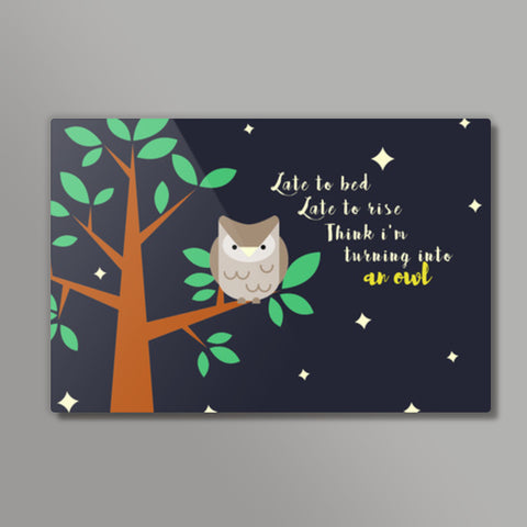 I'M A NIGHT OWL Metal Prints | Artist : PUJA KUMAR