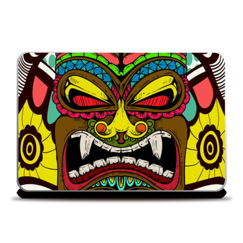 Tiki Monster Laptop Skins | Artist : Pulkit Taneja