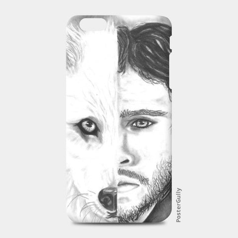 Jon Snow and Ghost iPhone 6 Plus/6S Plus Cases | Artist : Simranjit Singh