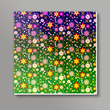 Colorful Flowers Square Art Prints | Artist : Design_Dazzlers