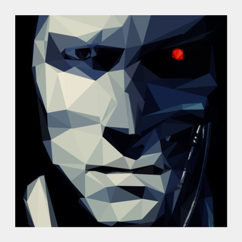 Square Art Prints, Terminator Square Art Prints | Artist : Shashanka Beshra, - PosterGully