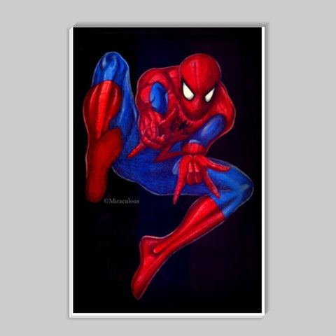 Spiderman | The Trainee Superhero Stick Ons | Artist : Miraculous