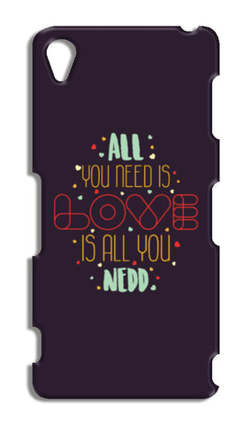 All you need is love is all you need Sony Xperia Z3 Cases | Artist : Designerchennai