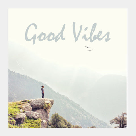 Good Vibes Square Art Prints | Artist : Samar Khan