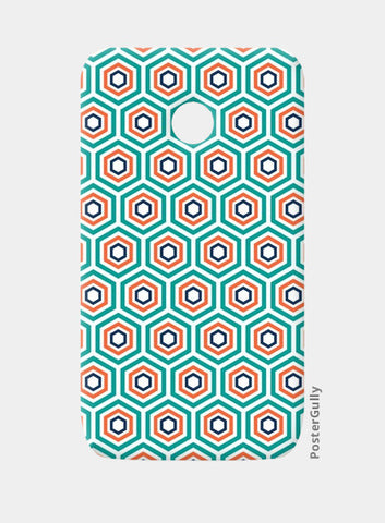 Moto E Cases, Teal-maze Moto E case | cuboidesign, - PosterGully