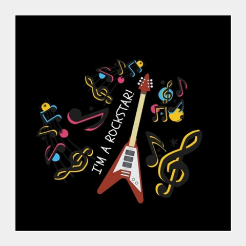 MUSIC LOVER Square Art Prints | Artist : Pallavi Rawal