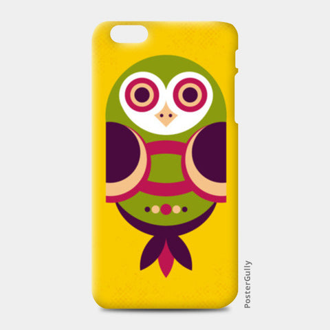 Unique geometric owl on yellow iPhone 6 Plus/6S Plus Cases | Artist : Designerchennai