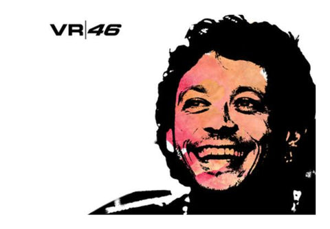 PosterGully Specials, VR 46 - Rossi (MotoGP) Wall Art  | Artist : Stoned_arse_design, - PosterGully