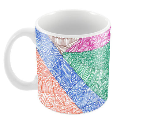 Triangles Coffee Mugs | Artist : Aishwarya Menon