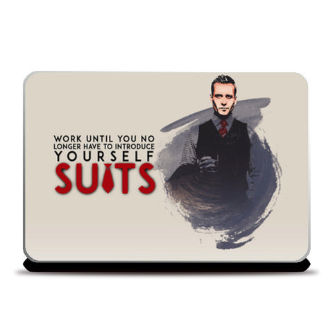 Suits | Harvey Specter | Quote Laptop Skins | Artist : Vivid Corner