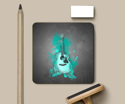 Guitar Splash – Aqua Coasters | Artist : Darshan Gajara's Artwork