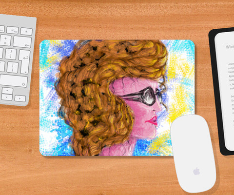 RADIANCE | beauty | girl | summer | colorful | woman | people | painting | sketches Mousepad | Artist : Jessica Maria