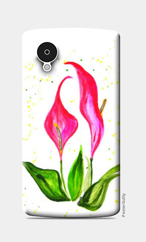 Nexus 5 Cases, Pink Floral Nexus 5 Case | Shweta D, - PosterGully