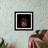 Woman With Tattoo Hand Premium Square Italian Wooden Frames | Artist : Inderpreet Singh
