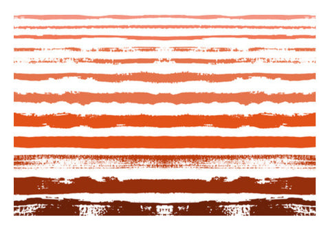 Uneven Orange Stripes Art PosterGully Specials