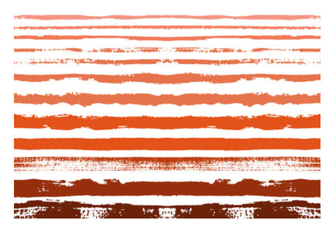 Uneven Orange Stripes Wall Art  | Artist : Amantrika Saraogi