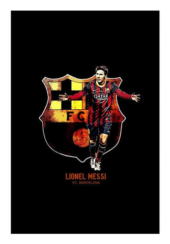 Messi - FC Barcelona Wall Art | Artist : Syamantak Dubey