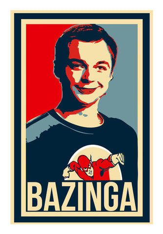 Bazinga | The Big Bang Theory Wall Art | Artist : Gub Gub