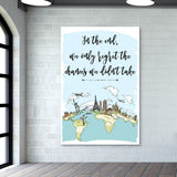 Quirky World Map Giant Poster | Artist : Inderpreet Singh