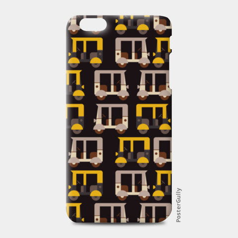 Auto rickshaw seamless illustration iPhone 6 Plus/6S Plus Cases | Artist : Designerchennai