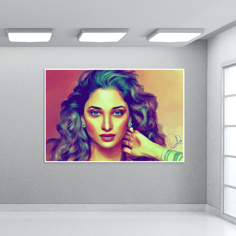 Tamannaah Bhatia Giant Poster | Artist : Delusion