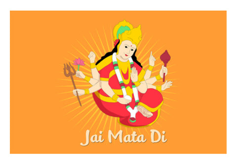 Jai Mata Di Illustration Of Maa Wall Art  | Artist : Creative DJ