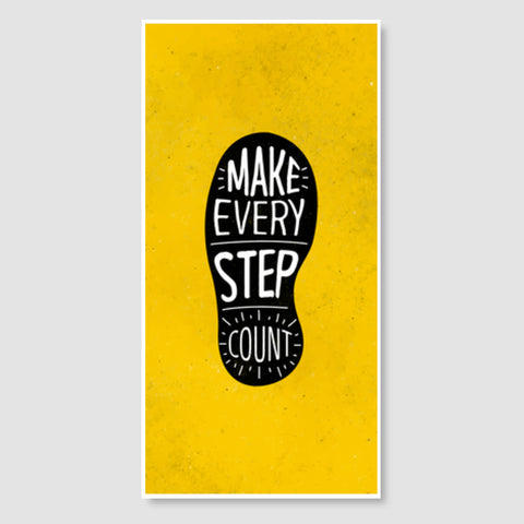 Make Every Step Count Door Poster | Artist : Inderpreet Singh