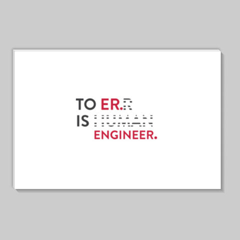 To Er. Is Engineer. Stick Ons | Artist : Minimal