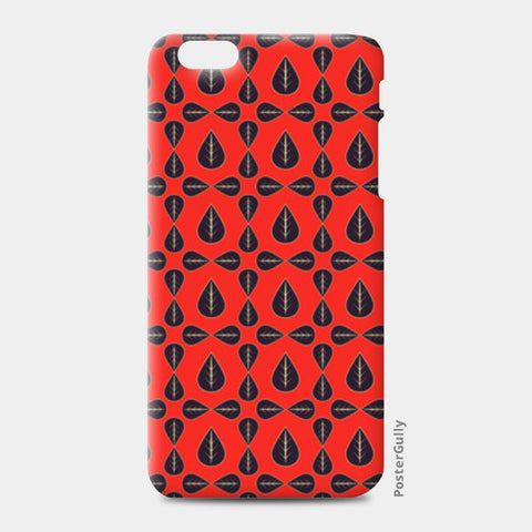 Seamless pattern with leaves on red background iPhone 6 Plus/6S Plus Cases | Artist : Designerchennai