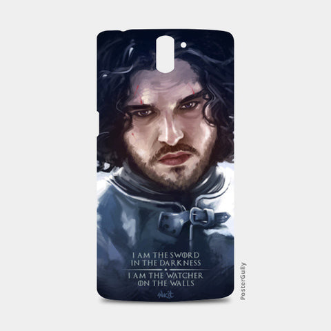 One Plus One Cases, Jon Snow | the watcher One Plus One Case | Artist : Aniruddha Lele, - PosterGully