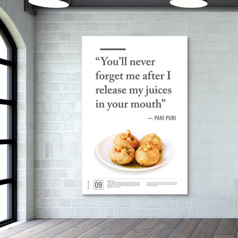Junk Seduction_Pani Puri Giant Poster | Artist : Scatterred Partikles