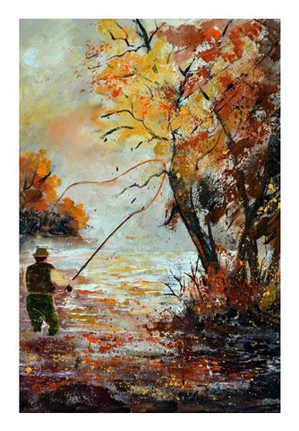 PosterGully Specials, Fishing 67 Wall Art | Artist : pol ledent, - PosterGully