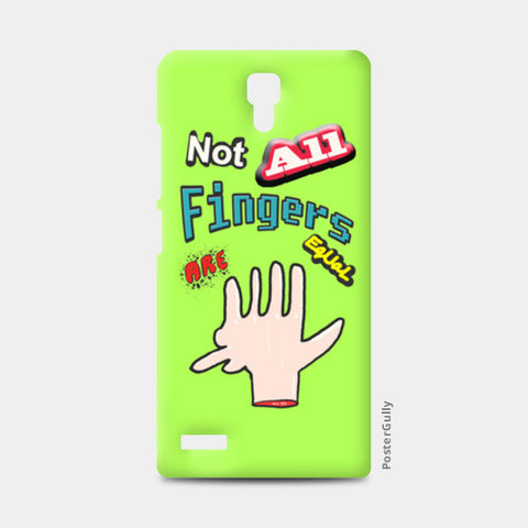Not All Fingers Are Equal (Green Back) Redmi Note Cases | Artist : Nitin Kapoor