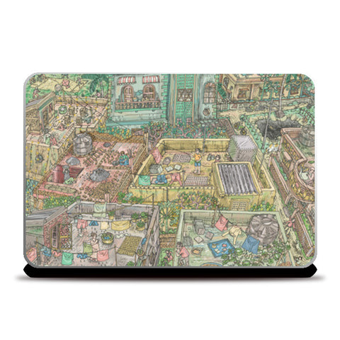 The Roof World Laptop Skins | Artist : Charbak Dipta