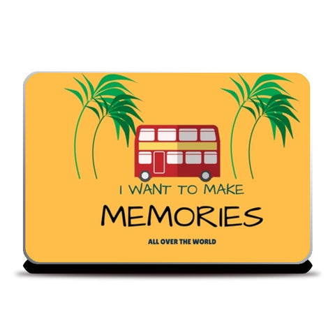 Travel Memories Laptop Skins | Artist : Pallavi Rawal | Special Deal - Size 15.6""