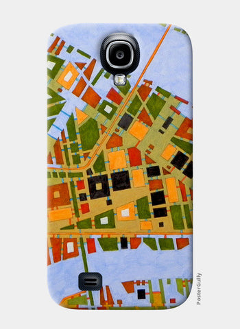 Samsung S4 Cases, imaginary map of Dallas Samsung S4 Cases | Artist : federico cortese, - PosterGully