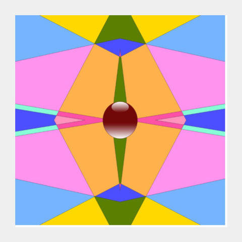 Square Art Prints, Colored Pearl Square Art Prints | Artist : Hemant Kumar Gandhi, - PosterGully