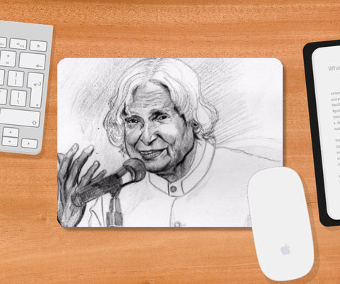 Mousepad, Sir APJ Adul Kalam tribute Mousepad | Artist:Sumit Sinha, - PosterGully