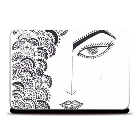 doodle,geometric.black and whit Laptop Skins | Artist : All the randomness