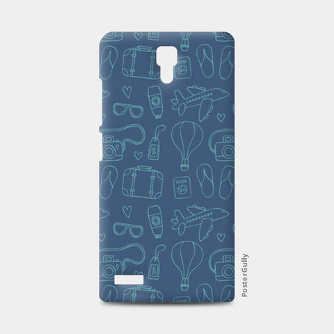 Sketchy Travel Redmi Note Cases | Artist : Colour me expressive