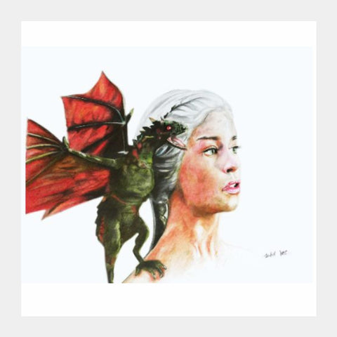 Square Art Prints, Khaleesi Game of Thrones Squrare Art | Artist: Tridib Das, - PosterGully